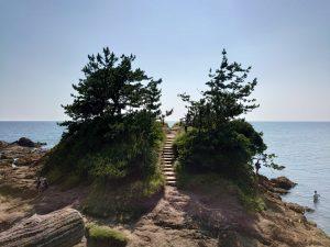 離陸地点の岬